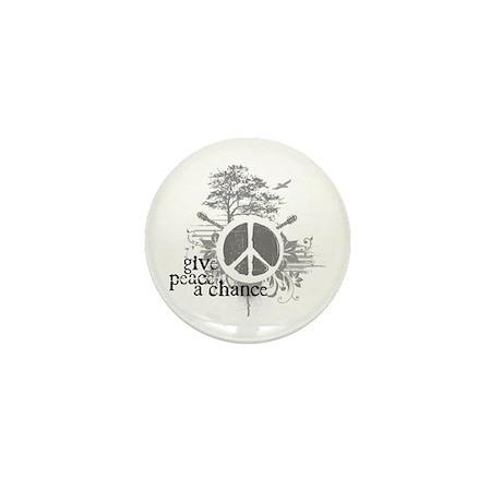 Give Peace Scene a Chance Mini Button