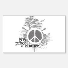 Give Peace Scene a Chance Rectangle Sticker 10 pk