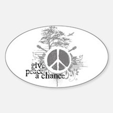 Give Peace Scene a Chance Oval Decal