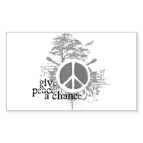 Give Peace Scene a Chance Rectangle Sticker
