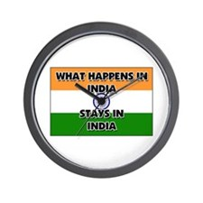 What Happens In INDIA Stays There Wall Clock