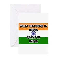 What Happens In INDIA Stays There Greeting Card