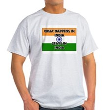 What Happens In INDIA Stays There T-Shirt