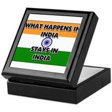 What Happens In INDIA Stays There Keepsake Box