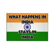 What Happens In INDIA Stays There Rectangle Magnet