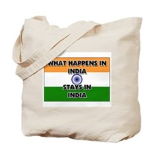 What Happens In INDIA Stays There Tote Bag