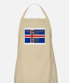 What Happens In ICELAND Stays There BBQ Apron
