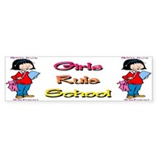 Girls Rule School Bumper Bumper Sticker