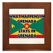 What Happens In GRENADA Stays There Framed Tile