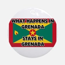 What Happens In GRENADA Stays There Ornament (Roun