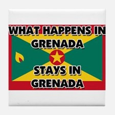 What Happens In GRENADA Stays There Tile Coaster