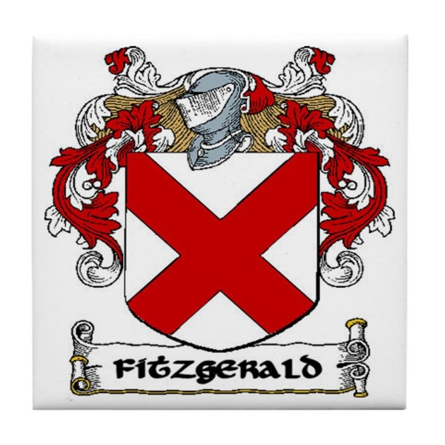 Fitzgerald Coat Of Arms Ceramic Tile By Irishcountry