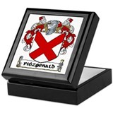 Fitzgerald family crest Keepsake Boxes