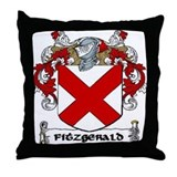 Fitzgerald family crest Throw Pillows