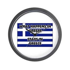 What Happens In GREECE Stays There Wall Clock