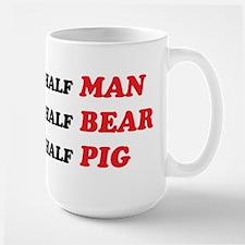 half-man-bear-pig Mugs