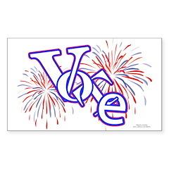 Vote! Vote! Vote! Rectangle Sticker 10 pk)