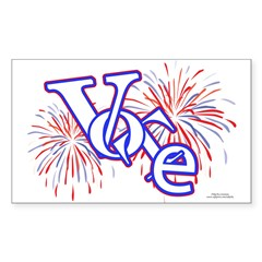 Vote! Vote! Vote! Rectangle Sticker 10 pk)