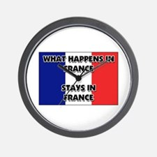 What Happens In FRANCE Stays There Wall Clock