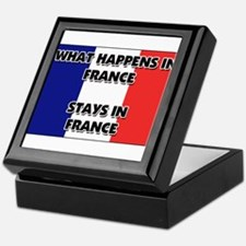 What Happens In FRANCE Stays There Keepsake Box