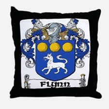 Flynn Coat of Arms Throw Pillow