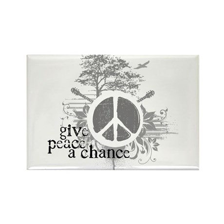 Give Peace Scene a Chance Rectangle Magnet