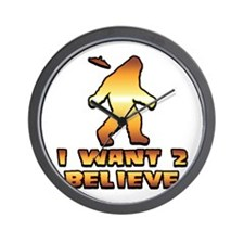 I Want 2 Believe Bigfoot 1 Wall Clock