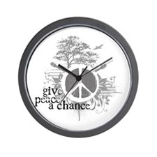 Give Peace Scene a Chance Wall Clock