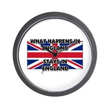 What Happens In ENGLAND Stays There Wall Clock
