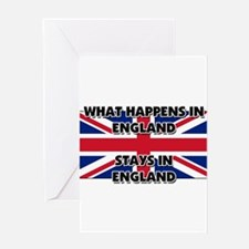 What Happens In ENGLAND Stays There Greeting Card
