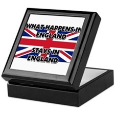 What Happens In ENGLAND Stays There Keepsake Box