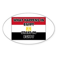 What Happens In EGYPT Stays There Oval Decal