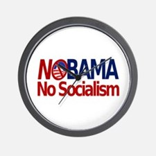 NObama, No Socialism Wall Clock