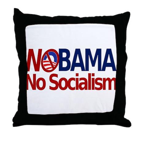 NObama, No Socialism Throw Pillow