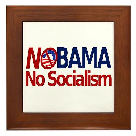 NObama, No Socialism Framed Tile