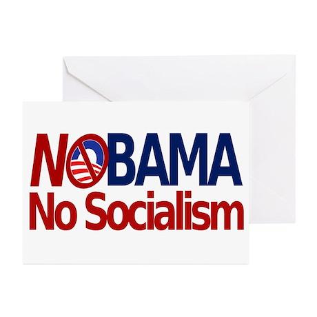 NObama, No Socialism Greeting Cards (Pk of 10)