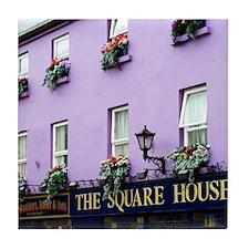 The Square House Tile Coaster