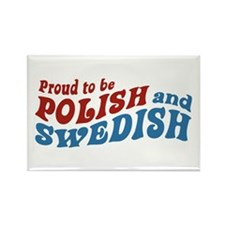 Proud Polish and Swedish Rectangle Magnet