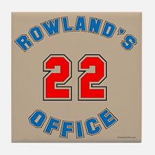 Rowland's Office Tile Coaster