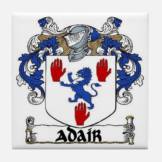 Adair Coat of Arms Tile Coaster