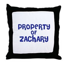 Property of Zachary Throw Pillow