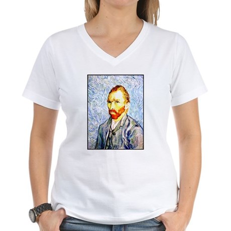 Vincent Van Gogh Women's V-Neck T-Shirt