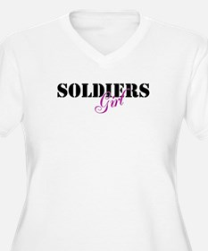 Soldier's Girl - Pink,Black a T-Shirt