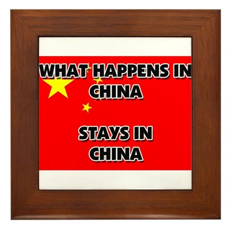 What Happens In CHINA Stays There Framed Tile