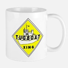 Tugboat Xing sign Mug