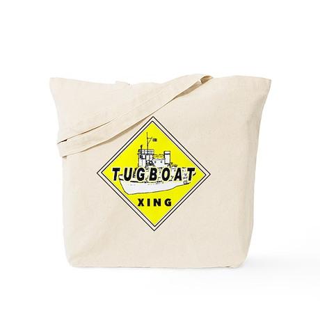 Tugboat Xing sign Tote Bag