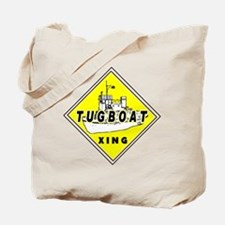 Tugboat Xing sign Tote Bag