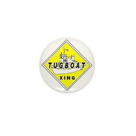 Tugboat Xing sign Mini Button