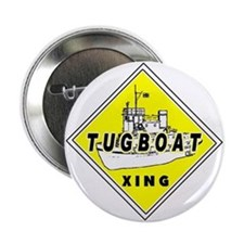 """Tugboat Xing sign 2.25"""" Button"""