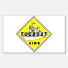 Tugboat Xing sign Rectangle Decal